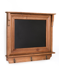 Wooden Blackboard Zoe with Three Hooks