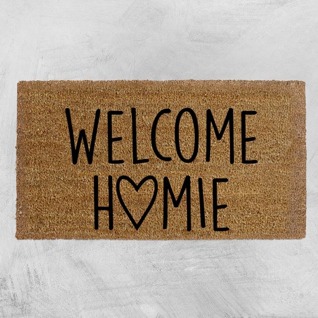 Natural Fibre Doormat - Welcome Homie