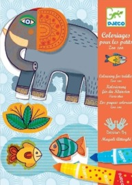 Djeco: Design - Zoo Zoo Colouring 4 Toddlers