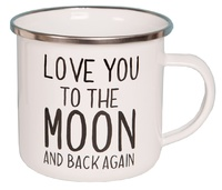 Love You To The Moon - Enamel Mug