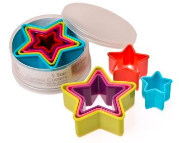 Multi Coloured Star Cookie Cutter Set image