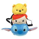 Disney Tsum Tsum: Pooh Ariel & Stitch Plush Backpack