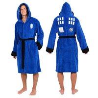 Doctor Who Tardis Hooded Fleece Bathrobe