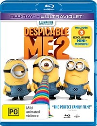 Despicable Me 2 on Blu-ray, UV