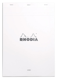 Bloc Rhodia White A4 - Lined