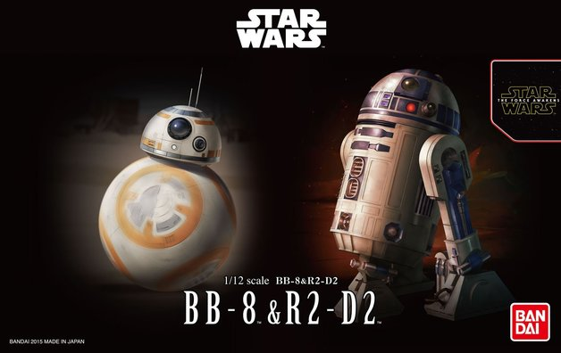 Star Wars 1/12 BB-8 & R2-D2 - Scale Model Kit