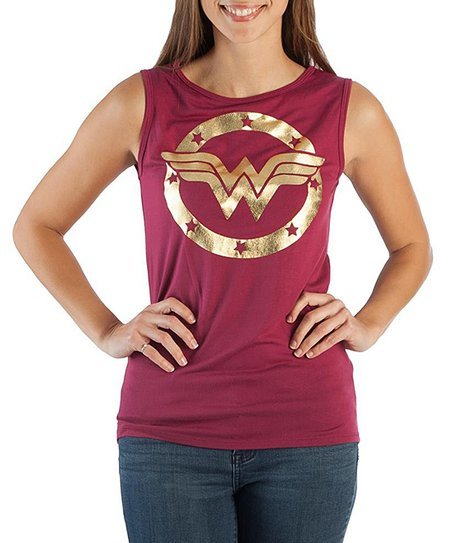 dcc3e69ce56a2 DC Comics  Wonder Woman Logo - Tank Top (Small) Images at Mighty Ape NZ