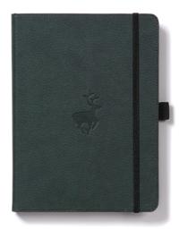 Dingbats Wildlife: A5 Green Deer Notebook - Dotted