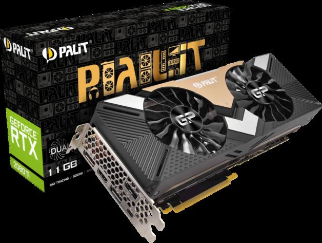 NVIDIA GeForce RTX 2080 Ti Dual 11GB Palit GPU