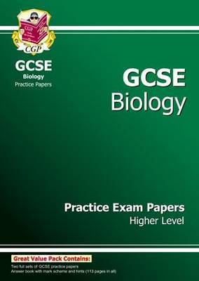 GCSE Biology Practice Exam Papers - Higher (A*-G Course) by CGP Books image
