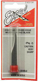 Excel #106 Concave Carving Knife Blade (2pc)
