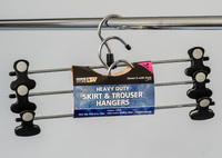 L.T. Williams - Heavy Duty Clip Hanger Black 3 Pack