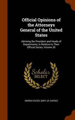Official Opinions of the Attorneys General of the United States image