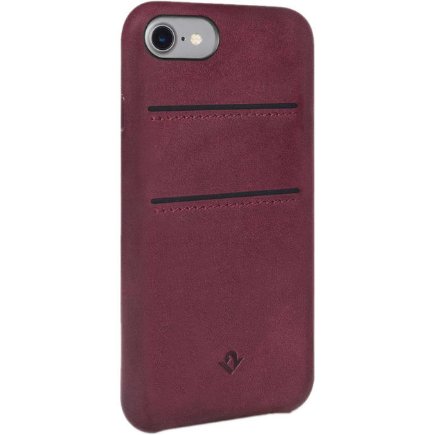 Twelve South Relaxed Leather case w/pockets for iPhone 7/6/6S (Marsala)