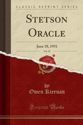 Stetson Oracle, Vol. 19 by Owen Kiernan image