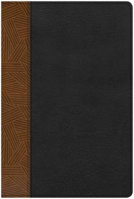 CSB Rainbow Study Bible, Black/Tan LeatherTouch by Csb Bibles by Holman