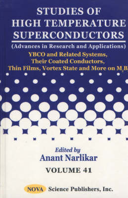 Studies of High Temperature Superconductors, Volume 41 image