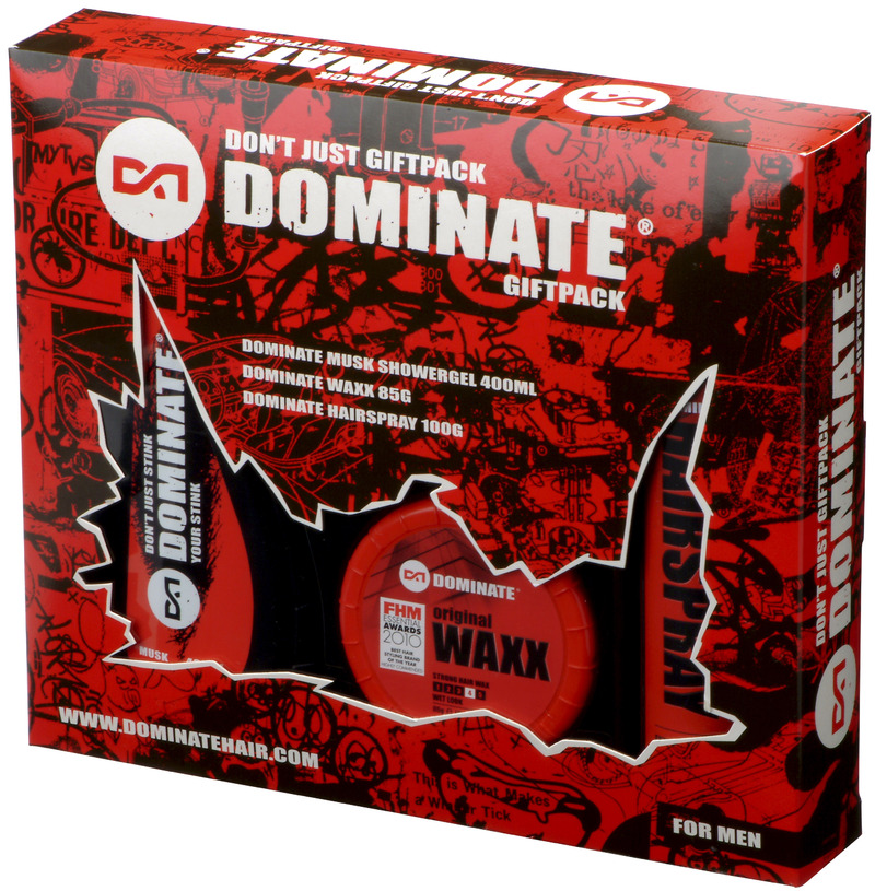 Dominate Don't Just Men's Gift Pack (Hair Waxx / Hairspray / Shower Gel) image
