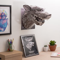 Game of Thrones Mask and Wall Mount - House Stark Wolf by Steve Wintercroft image