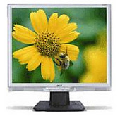 """Acer AL1917SMD 19"""" LCD 8ms DVI Spkrs Monitor Colour: Silver and Black"""