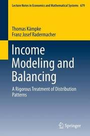 Income Modeling and Balancing by Thomas Kampke