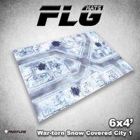 FLG War-Torn Snow Covered City 1 Neoprene Gaming Mat (6x4)