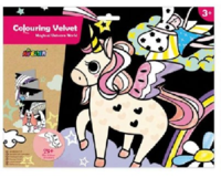 Avenir: Colouring Velvet Kit - Magical Unicorn World