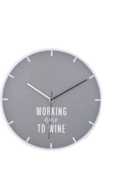 Emporium: Happy Hour Wall Clock (White)