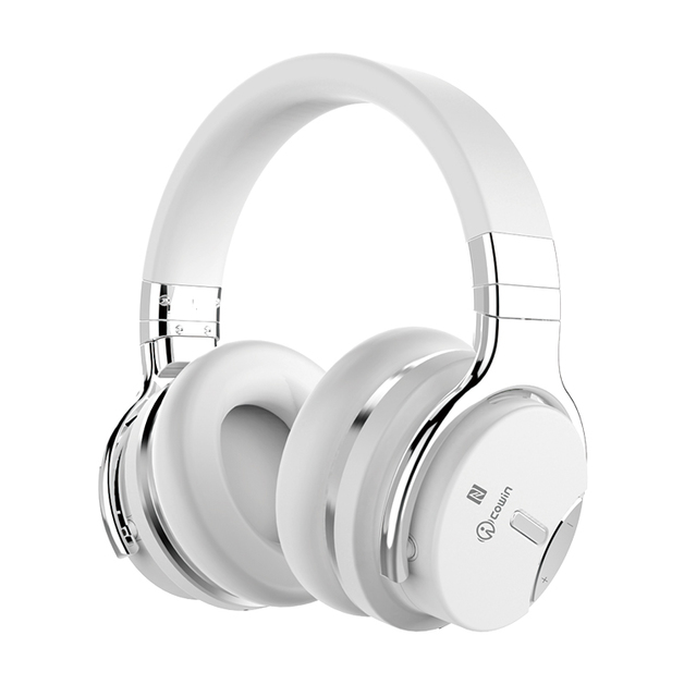 Cowin: E7S Active Noise Cancelling - Wireless Bluetooth Headphones (White)