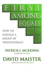 First Among Equals by Patrick J. McKenna image