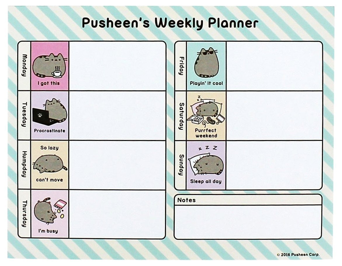 Buy Pusheen Weekly Planner At Mighty Ape Australia