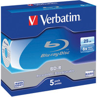 Verbatim BD-R 25GB Jewel Case 6x (5 Pack)