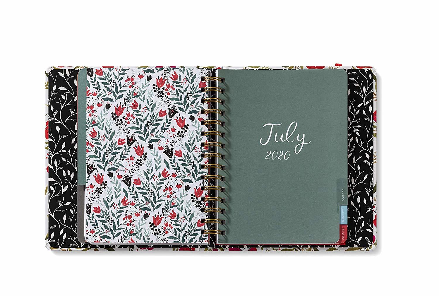 2020 High Note Dinara's Red Floral in Gold 18-Month Weekly Hardcover Planner image