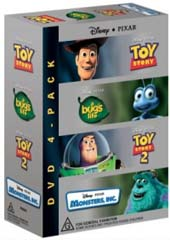 Pixar Box Set - Monster's Inc/Bug's Life/Toy Story/Toy Story 2 on DVD
