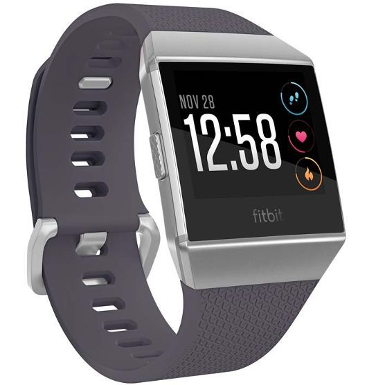 Fitbit Ionic Smart Fitness Watch Blue-Grey and White