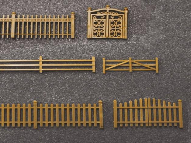 JTT: HO gauge Assorted Fencing (20 pack)