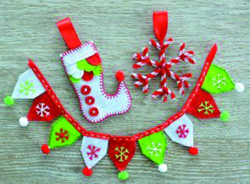 Seedling make your own christmas decorations images at Make your own christmas bunting