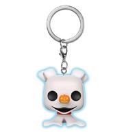 The Nightmare Before Christmas - Zero Glow Pocket Pop! Keychain