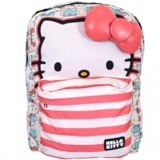 Hello Kitty Half Face Faded Red/Blue Backpack
