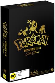 Pokemon: Movies 1-3 - Gold Edition on DVD