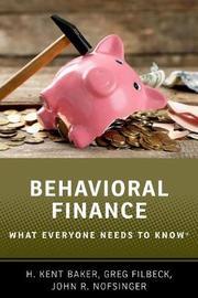 Behavioral Finance by H Kent Baker