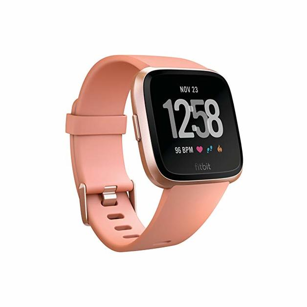 Fitbit Versa Smart Fitness Watch - Peach Rose Gold