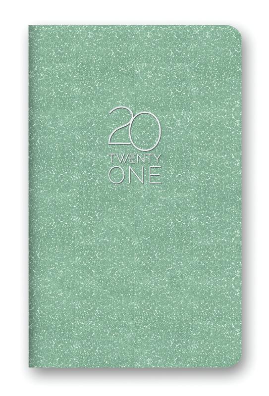 Orange Circle Studio: Leatheresque Mini Monthly Planner 2021 - Mint Shimmer