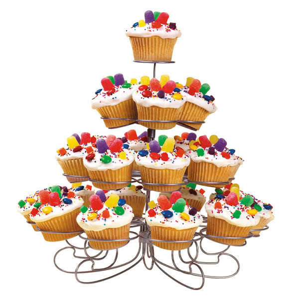 Cupcake Party Tree - 23 Cups (White)