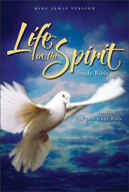 KJV, Life in the Spirit Study Bible, Bonded Leather, Burgundy, Indexed, Red Letter Edition by Zondervan