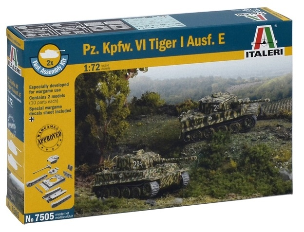 Italeri: 1/72 Pz. Kpfw. VI Tiger - Fast Assembly Kit