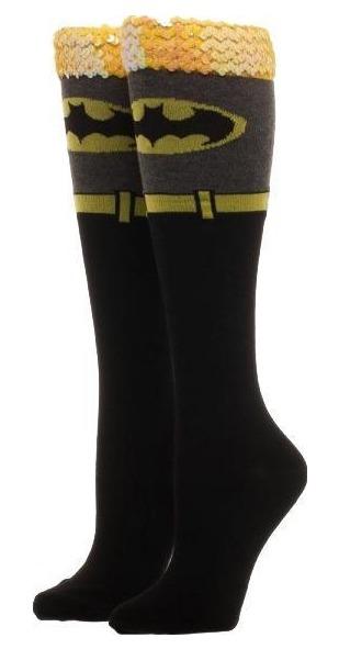 3ebed9820 DC Comics  Batman Sequin Cuff- Knee High Socks image ...