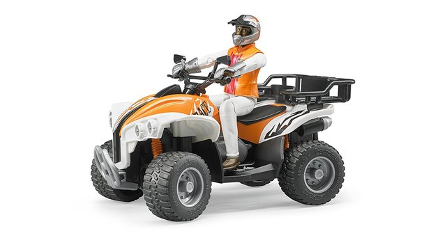 Bruder Quad Bike with Rider