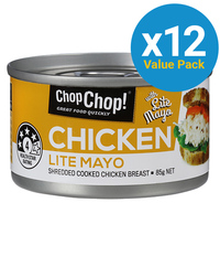Chop Chop: Shredded Chicken with Lite Mayo 85g (12 Pack)