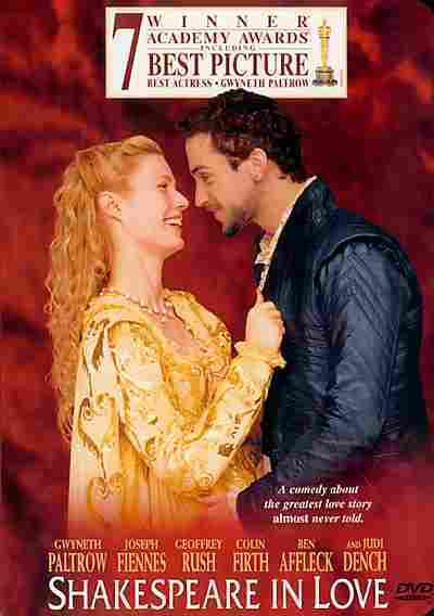 Shakespeare in Love on DVD image